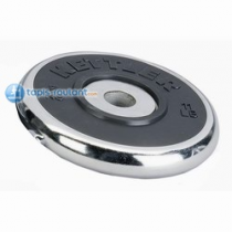 KETTLER  2 dischi peso cromato-gomma Kg. 2,5  Pesi - Panche - Palestre